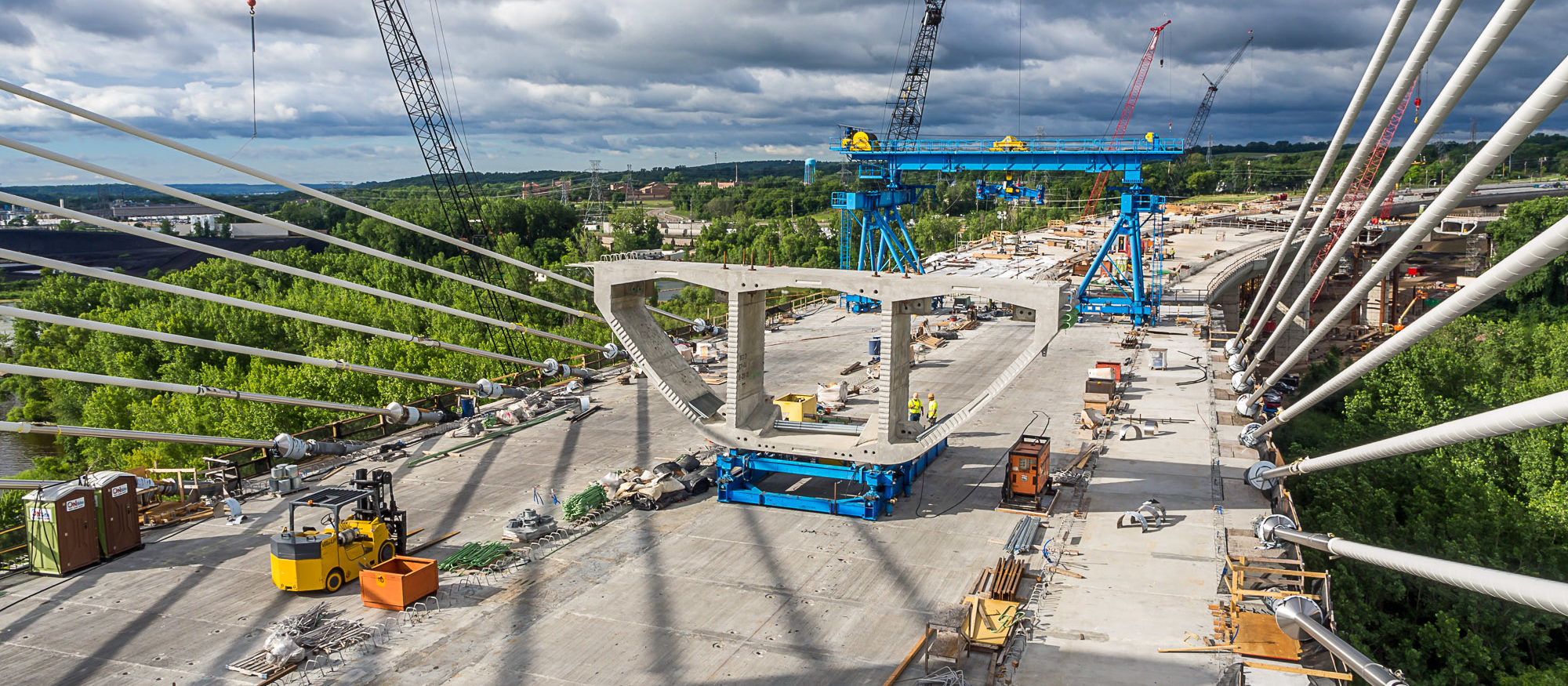 St. Croix Crossing Bridge Construction