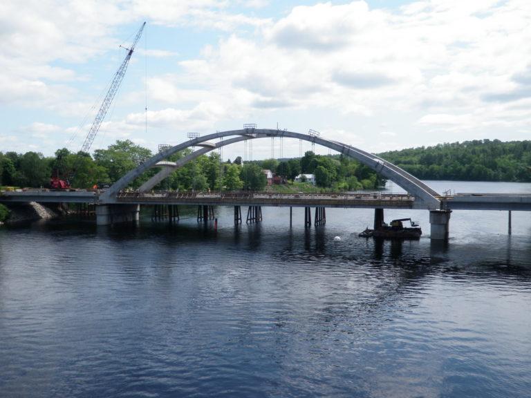Norridgewock Bridge Construction